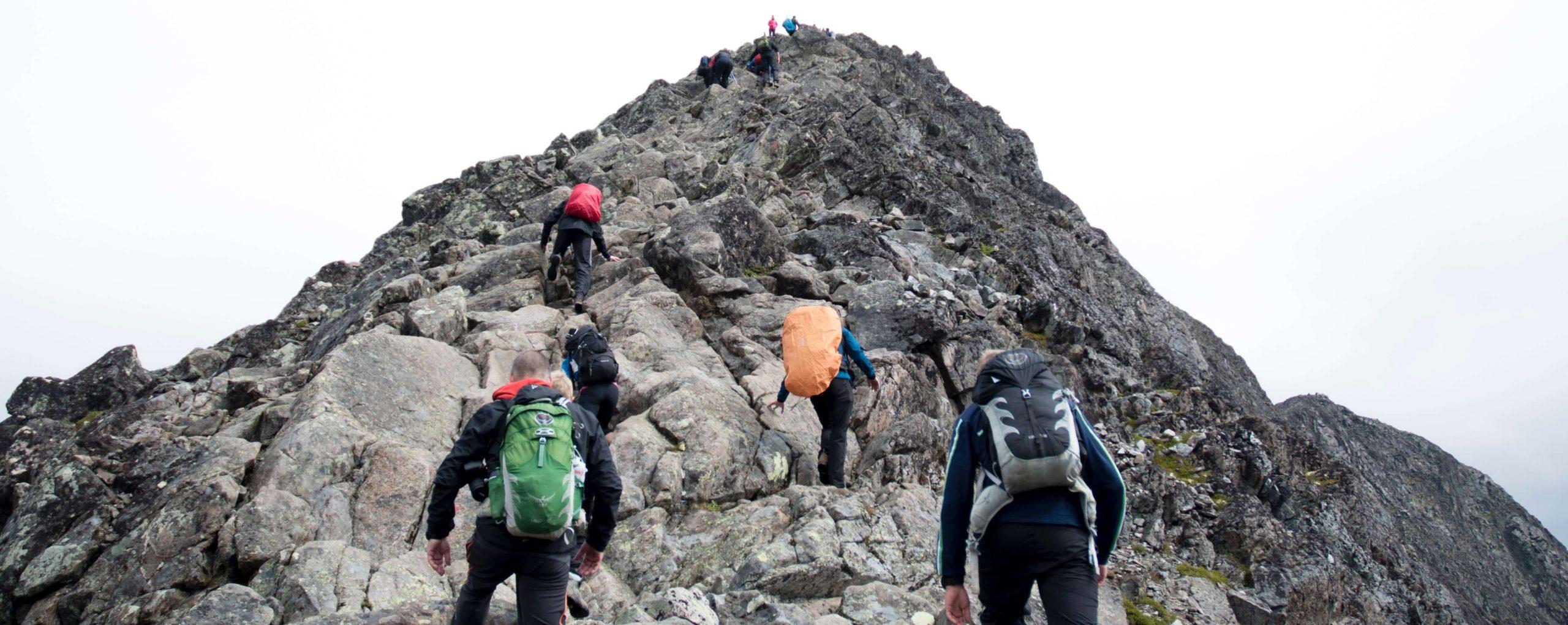 登山で困難な画像